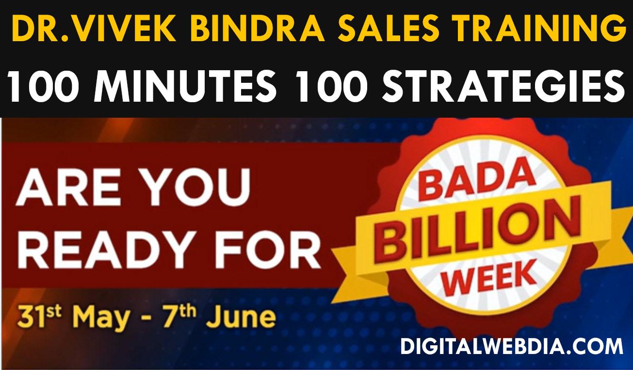 [Dr Vivek Bindra] World's Largest Sales Training Webinar 100 Minutes 100 - Full Sessions